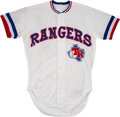 Baseball Collectibles:Uniforms, 1983 Buddy Bell Game Worn Texas Rangers Jersey - Rare One-YearStyle!...