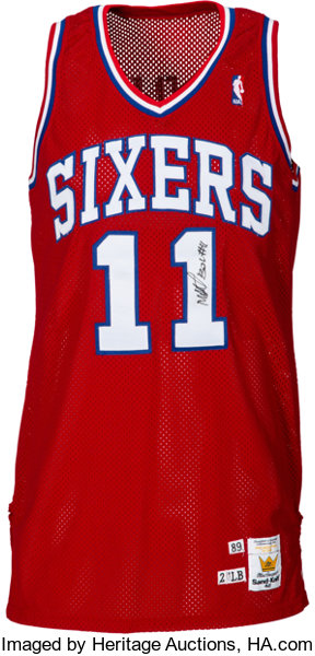 5bb4e0c26 1990-91 Manute Bol Game Worn   Signed Philadelphia 76ers