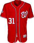 Baseball Collectibles:Uniforms, 2018 Max Scherzer Game Worn Washington Nationals Jersey--Photo Matched!...