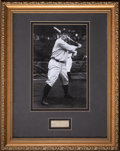 Autographs:Others, Circa 1930 Lou Gehrig Signed Cut Signature Display....