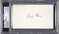 Football Collectibles:Others, Circa 1960's Davey O'Brien Signed Index Card. ...