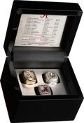 Football Collectibles:Others, 2015 University of Alabama Crimson Tide National Championship Football Ring Set (3) Presented to Defensive Lineman O.J. Smith....