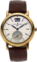 Timepieces:Wristwatch, Ulysse Nardin, Fine 18K Yellow Gold San Marco Big Date, Automatic, Full Set, Ref. 341-22, Circa 1999. ...