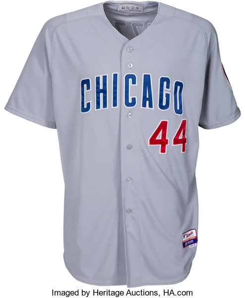 purchase cheap ef62d e53bd 2013 Anthony Rizzo Game Worn Chicago Cubs Uniform - Team ...