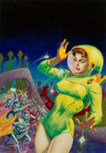 Original Comic Art:Illustrations, Kelly Freas (American, 1922-2005). Alternate Universe,Super-Science Fiction cover, August 1957. Acryl...
