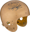 Football Collectibles:Helmets, 1990's Notre Dame Fighting Irish Game Worn Helmet Signed by Team Legends....