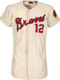 Baseball Collectibles:Uniforms, 1966 Gene Oliver Game Worn Atlanta Braves Jersey. ...