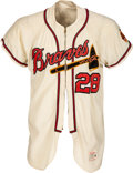 Baseball Collectibles:Uniforms, 1962-65 Tommie Aaron Game Worn Milwaukee Braves Jersey....