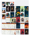 Original Comic Art:Sketches, Bob Larkin and Others Doc Savage Original Art (12) and Trading Cards Group of 37 (Various Publishers, 1993-2013)....
