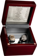Football Collectibles:Others, 2012 Florida State Seminoles ACC and Orange Bowl Championship Rings (2) Presented to Defensive Tackle Moses McCray....