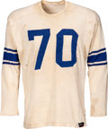 Football Collectibles:Uniforms, 1953-54 Art Donovan Game Worn Baltimore Colts Jersey, MEARS A9....
