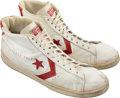 Basketball Collectibles:Others, Circa 1983 Terry Tyler Game Worn Detroit Pistons Sneakers with Stenciled Name....