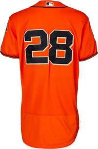 best loved 66e7a 02537 2016 Buster Posey Game Worn San Francisco Giants Jersey ...