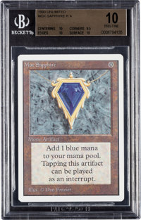 Magic: The Gathering Unlimited Edition Mox Sapphire BGS 10 (Wizards of the Coast, 1993)