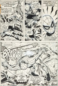 Original Comic Art:Panel Pages, John Romita Sr., Paul Reinman, and Tony Mortellaro Amazing Spider-Man #132 Page 16 Original Art (Marvel, 1974)....