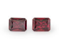 Gems:Faceted, Gemstone: Garnet Pair - 4.91 TCW. Africa. 8.00 x 6.01 x 4.70 mm . ... (Total: 2 Items)