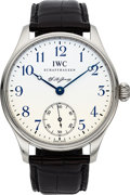 Timepieces:Wristwatch, IWC, F.A. Jones Portuguese, Limited Edition No. 2471/3000, Stainless Steel, Circa 2005. ...