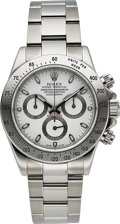 Timepieces:Wristwatch, Rolex, Ref. 116520 Oyster Perpetual Cosmograph Daytona, Stainless Steel, Full Set, Circa 2006. ...