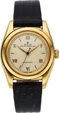 Timepieces:Wristwatch, Rolex, Ref. 3131 Bubble Back, 14k Yellow Gold, Circa 1940's. ...
