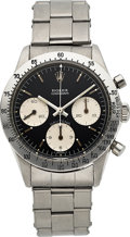 "Timepieces:Wristwatch, Rolex, Very Rare Ref. 6239 ""Blue Daytona"", Oyster Cosmograph, Stainless Steel, Circa 1967. ..."