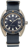 "Timepieces:Wristwatch, Omega, Rare Seamaster 120 ""Deep Blue"" Automatic, Stainless Steel, Ref. 166.073, Circa 1969. ..."