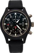 Timepieces:Wristwatch, IWC, Ref 3789 Fliegeruhr Chrono-Automatic, Top Gun Edition, CeramicCase, Circa 2011. ...