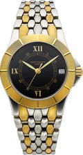 Timepieces:Wristwatch, Patek Philippe, Very Fine Ref. 5080/001, Neptune, Steel and Gold, Circa 1998. ...