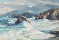 Fine Art - Painting, American, Bennett Bradbury (American, 1914-1991). Coast at Big Sur,1964. Oil on canvas. 24 x 36 inches (61.0 x 91.4 cm). Signed l...