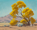 Fine Art - Painting, American, Samuel Hyde Harris (American, 1889-1997). Spring in theDesert. Oil on canvas. 21-1/2 x 24 inches (54.6 x 61.0 cm).Sign...
