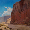 Paintings:Western, John Modesitt (American, b. 1955). The Great West. Oil on canvas. 24 x 24 inches (61 x 61 cm). Signed lower right: Mod...