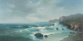 Fine Art - Painting, American, Eugene Garin (Russian, 1922-1994). Seascape. Oil on canvas.24 x 48 inches (61.0 x 121.9 cm). Signed lower right: E.G...
