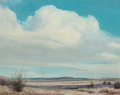 Fine Art - Painting, American, Clyde Scott (American, 1884-1959). Out West. Oil on canvas.24 x 30 inches (61.0 x 76.2 cm). Signed lower left: Clyde...