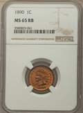 Indian Cents: , 1890 1C MS65 Red and Brown NGC. NGC Census: (77/0). PCGS Population: (56/14). CDN: $600 Whsle. Bid for problem-free NGC/PCG...