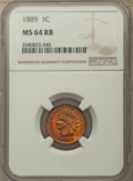 Indian Cents: , 1889 1C MS64 Red and Brown NGC. NGC Census: (191/90). PCGS Population: (287/92). CDN: $275 Whsle. Bid for problem-free NGC/...