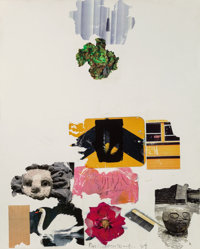 Robert Rauschenberg (1925-2008) Treasure (Shales), 1994 Fire wax and transfer on canvas m