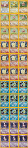 Memorabilia:Trading Cards, Pokémon Base Set Holographic Unlimited Proof Sheets (2000)....