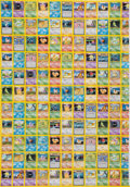 Memorabilia:Trading Cards, Pokémon Base Set Unlimited Chinese Uncut Proof Sheets Group of 2 (2000)....