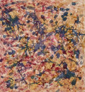 Works on Paper:Contemporary, Mark Tobey (1890-1976). Secret Garden, 1963. Mixed media on paperboard laid on paperboard. 13-5/8 x 12-3/4 inches (34.6 ...