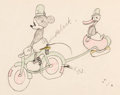 Animation Art:Color Model, The Dognapper Mickey Mouse and Donald Duck Color Model Drawing (Walt Disney, 1934)....
