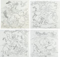 Animation Art:Concept Art, Winnie the Pooh Book Cover Concept Drawings Original Art Group of 4 (Walt Disney, 1991).... (Total: 4 Original Art)