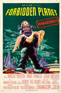 "Movie Posters:Science Fiction, Forbidden Planet (MGM, 1956). Folded, Fine/Very Fine. One Sheet(27"" X 41"").. ..."