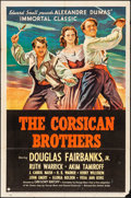 "Movie Posters:Adventure, The Corsican Brothers (United Artists, 1941). Folded, Fine/VeryFine. One Sheet (27"" X 41""). Adventure.. ..."