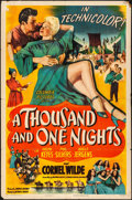 """Movie Posters:Adventure, A Thousand and One Nights (Columbia, 1945). Folded, Fine/Very Fine.One Sheet (27"""" X 41""""). Adventure.. ..."""