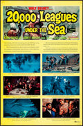 Movie Posters:Science Fiction, 20,000 Leagues Under the Sea (Buena Vista, R-1963). Folded...