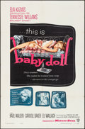 "Movie Posters:Drama, Baby Doll (Warner Brothers, 1957). Folded, Very Fine. One Sheet(27"" X 41""). Drama.. ..."