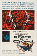 """Movie Posters:Drama, A Face in the Crowd (Warner Brothers, 1957). Folded, Fine/VeryFine. One Sheet (27"""" X 41""""). Drama.. ..."""