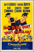 "Movie Posters:Comedy, How to Be Very, Very Popular (20th Century Fox, 1955). Folded, Very Fine. One Sheet (27"" X 41""). Comedy.. ..."
