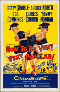 "How to Be Very, Very Popular (20th Century Fox, 1955). Folded, Very Fine. One Sheet (27"" X 41""). Comedy"