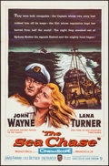 """Movie Posters:War, The Sea Chase (Warner Brothers, 1955). Folded, Very Fine. One Sheet (27"""" X 41""""). War.. ..."""