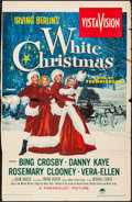 Movie Posters:Musical, White Christmas (Paramount, 1954). Folded, Fine. T...